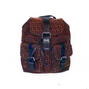Authentic Fendi Vintage Zucca Mini Backpack